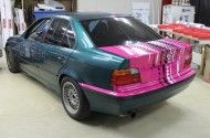 BMW E36 początek oklejania